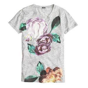 J.CREW   Exploded Floral T-Shirt Sz XXS